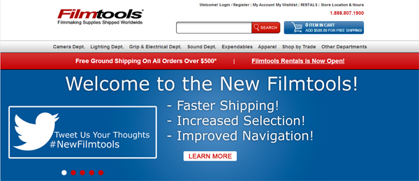 New Filmtools Website